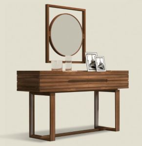 Solid Walunt Wood Dresser Table&Mirror (GJ105)