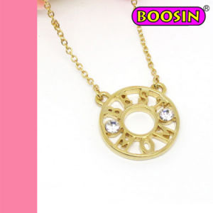 Fashion Jewelry Gold Plated Best Mom Circle Charm Necklace pictures & photos