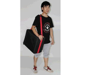 Exhibition Display Portable Literature Floor Stand with Carrying Bag pictures & photos