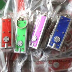 Top Quality Promotional LED Keychain Flashlight with Logo Print (3672) pictures & photos