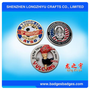 3D Coin with Vivid Logo and Plain Copper Plated pictures & photos