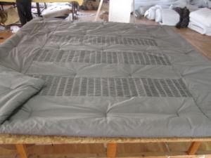 Shutter Pleats Solid Grey Comforter pictures & photos