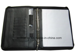 4 Rings Document Agenda Holder Binder with Notepad, Pen Loop pictures & photos