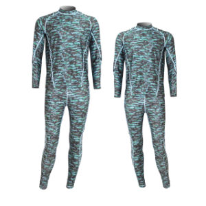Camouflage Long Sleeve Bjj Rash Guard pictures & photos