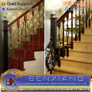 Wrought Iron Stair Grills Power Coating Stairs Indoor Metal Staircase Outdoor Steel Staircase pictures & photos