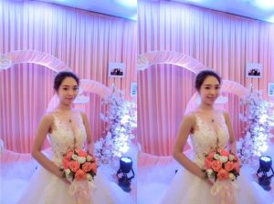 Hot Sale 3D Flower Beading Bridal Wedding Dress pictures & photos