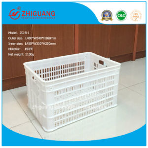 100% New Material Mesh Plastic Basket/Plastic Turnover Box/ pictures & photos