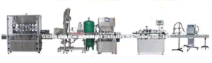 Automatic Sauce Jam Filling Machine with Capping Labeling Line pictures & photos