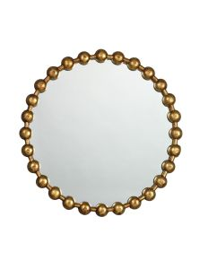Hot Sales New Round Ball Chain Framed Mirror in Antique Gold Brass Finish for Fashion Wall Decoration pictures & photos