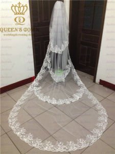 The New Multi-Layer Long Section of Lace Bridal Veil (V003)
