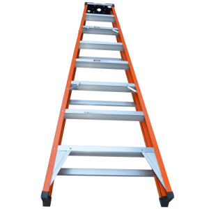 China Supplier Foldable Colorful Agility Domestic FRP 5 Step Ladder pictures & photos