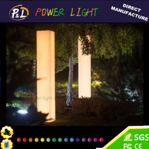 Cordless Plastic Glowing LED Pillar Floor Lamp pictures & photos