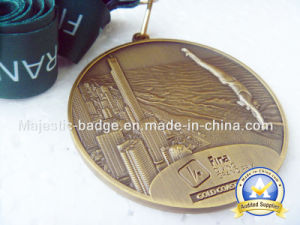 No Color Green Ribboncustomized Sports Swimming Medallion pictures & photos