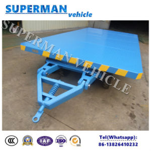8t Cargo Transport Industrial Flatbed Drawbar Trailer pictures & photos