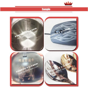 Factory Price 3D Curved Surface Engraving Fiber Laser Marker for Metal pictures & photos