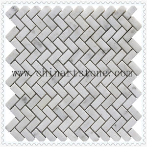 China White Carrara White Fan /Round Marble Pattern Mosaic pictures & photos