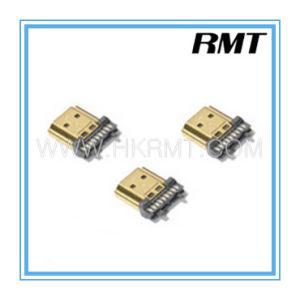 HDMI 19p a Type Male Solder Connector (RMT-160325-036) pictures & photos
