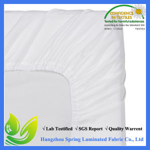 Basic Terry 80/20 Cotton/Poly Laminated Waterproof Mattress Protector with Skirt pictures & photos