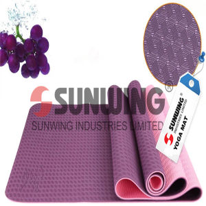 Anti Slip Manufacturer Embossed Anti Slip TPE Yoga Mat pictures & photos