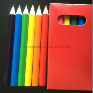 6PCS Wooden Color Pencils with Color Printing on Box pictures & photos