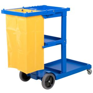Hotel Plastic Janitor′s Cleaning Trolley Cart pictures & photos