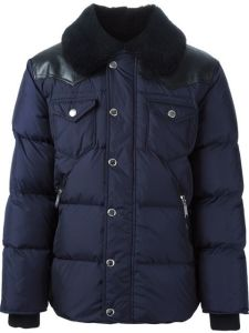 Men Navy Windproof Breathable Padding Winter Jacket pictures & photos