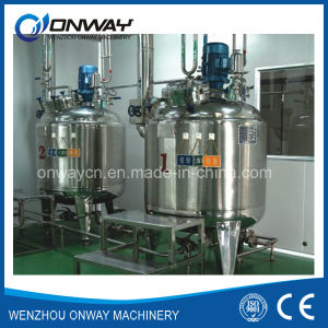 Pl Stainless Steel Jacket Emulsification Mixing Tank Oil Blending Machine Mixer Electric Heating Agitator Mixing Evaporator pictures & photos