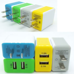Mobile Phone 5V 2.1A 2port USB Travel Charger pictures & photos