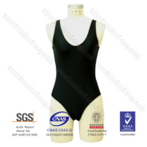 Fashion V-Neck Lycra One-Piece Beachwear pictures & photos