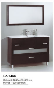 2016 MDF Bathroom Cabinet with Lighted Mirror and Ceramic Basin pictures & photos