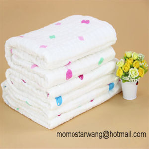 Soft Muslin Baby Blanket Swaddle Blanket with High Quality pictures & photos