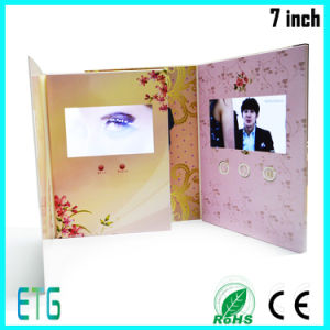 """7"""" HD/IPS Screen Video Wedding Card with LCD pictures & photos"""