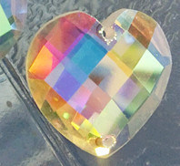 Ab Color Heart Flat Back Stones Buttons with Two Holes pictures & photos