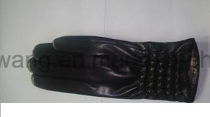 Fashion Warm Lady Leather Gloves/Mittens pictures & photos