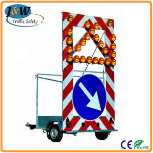 Mobile Trailer LED Solar Traffic Sign / Warning Sign for Sale pictures & photos