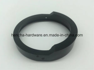 CNC Part of Aluminium Ring with Electroplate Black for Camera pictures & photos