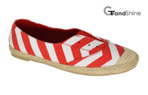 Women′s Espadrille Printed Canvas Flat Casual Shoes pictures & photos