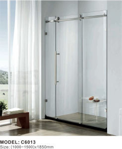 Aluminum Frame Sliding Shower Cabin Door Glass Shower Enclosure