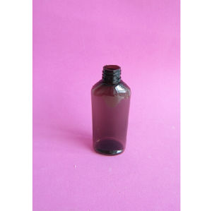100ml Amber Empty Bottle Without Flip Top Cap pictures & photos