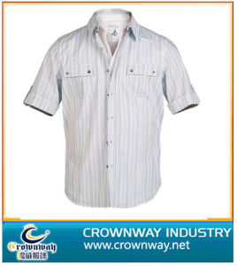 Classic Design Mens Striped Formal Shirts with High Quality (CW-MSS-22) pictures & photos