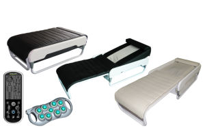 Spiral Screw+ Jade Rollers Lift up and Down, and Wit Back Electric Lift Adjustable Thermal Massage Bed with Lifter pictures & photos