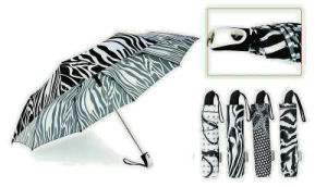 Black&White 3 Fold Automatic Windproof Umbrella (YS-3FA22083909R)