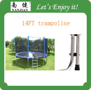 14ft Elastic Trampoline Bed with Enclosure, 2014 Hot Sale Nj-Big14 pictures & photos