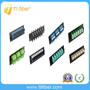 Sc/LC/ FC/St Fiber Adapter Panel Plate for Patch Panel pictures & photos