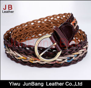 Women′s German Bond Braided Leather Belt pictures & photos