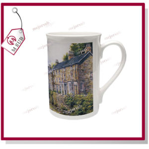 10oz Blank Sublimation Windsor Mug with Curled Rim pictures & photos