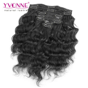 Loose Wave Brazilian Virgin Hair Clip in Extensions pictures & photos