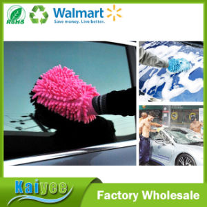Double Sided Super Microfiber Cleaning Car Wash Glove pictures & photos