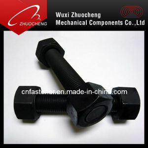Black/Zinc Plated ASTM A193 B7 Threaded Rod with ASTM A194 2h Heavy Hex Nuts pictures & photos
