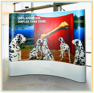 Custom Printed Logo Pop up Stand with 10FT Curved Graphic pictures & photos